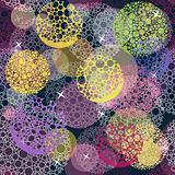 Abstract cute seamless polka dot circle background pattern.