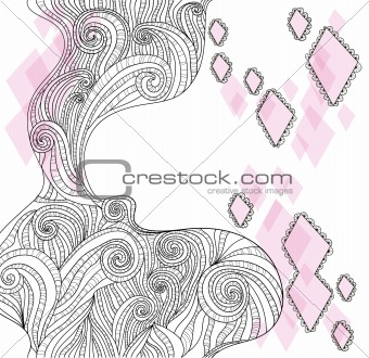 Abstract hand-drawn doodle background