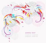 Modern floral background. Pattern with abstract flower elements.
