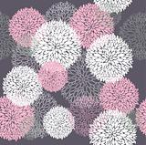 Vector flower pattern. Seamless cute spring or summer floral pat