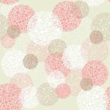 Abstract seamless polka dot circles pattern