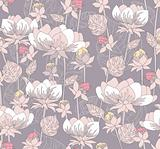 Seamless pastel floral pattern. Background with flowers