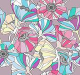 Seamless pattern with flowers. Colorful floral background.