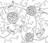 Abstract black and white seamless flower pattern with roses and