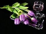 Purple On Silver