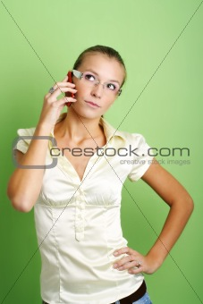 calling business woman