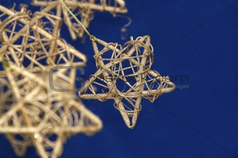 Gold Christmas Star / with copy space