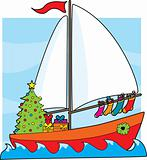 Christmas Sailboat