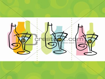 Cocktail Abstract Icons