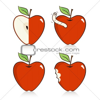 Heart-shaped Apple Icons
