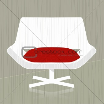 Retro-stylized Chair Icon