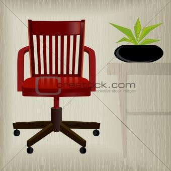 Vintage Red Office Chair