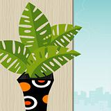 Tropical Plant Retro-Stylized