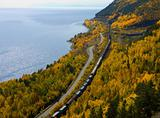 The railroad in Lake Baikal