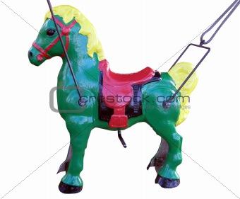 Green Merry-go-Round Horse