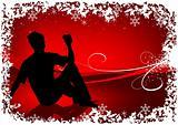 Red Santa Drinking