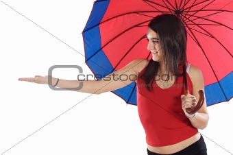 attractive woman whit umbrella
