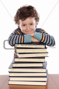 Adorable child studying