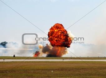 Ground explosion