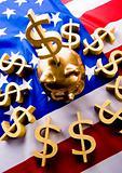 U.S.A flag & Dollar
