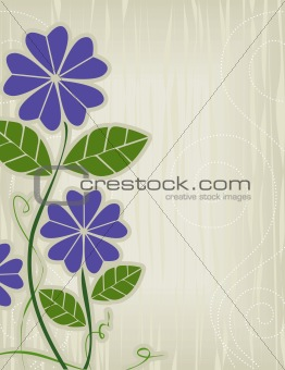 Purple Flower Abstract
