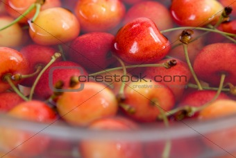 cherries in water