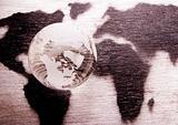 Crystall ball & World
