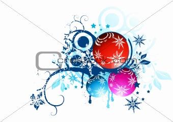 Floral Christmas Balls