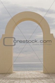 Archway to the ocean