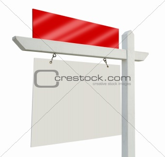 Blank Real Estate Sign Isolated on White