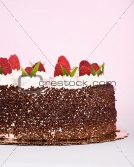 Cake with Raspberries