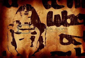 Grunge Egiptian background