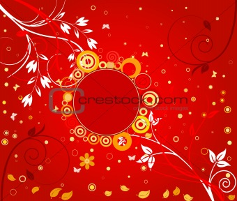 Abstract floral  background - vector