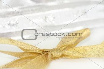 Celebratory and Christmas ribbon