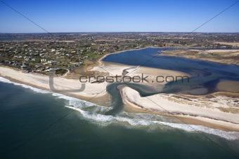 Beach with shoal.
