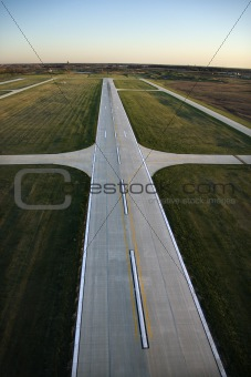 Airplane runway.