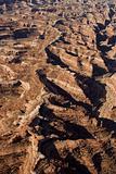 Desert canyon aerial.