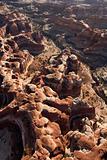 Sandstone rocks aerial.