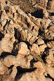 Aerial desert canyon.