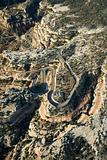 Curvy desert road.