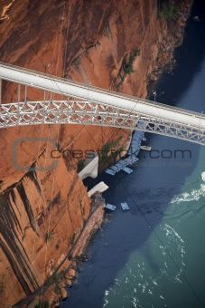 Glen Canyon Dam Bridge.