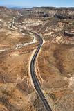 Desert scenic road.