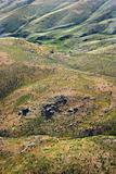 Rolling hill landscape.