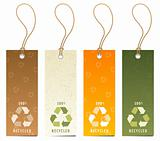 Recycling icon tags