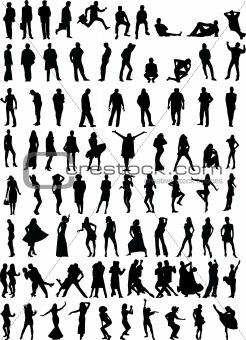 80 people silhouettes