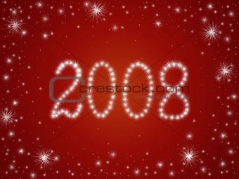 2008 stars in red
