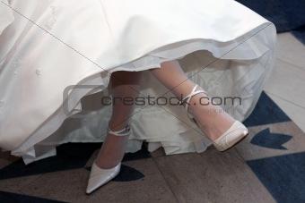 BrideCrossing Her legs