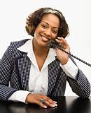 Businesswoman on telephone.