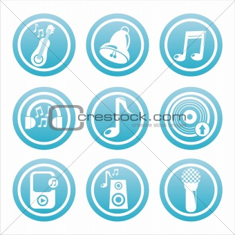 blue music signs