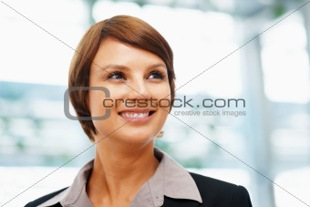 Female executive daydreaming